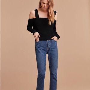 Aritzia Cold-Shoulder Sweater